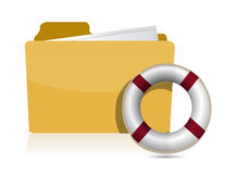 Folder icon with lifesaver. Over a white background Royalty Free Stock Photography