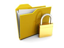 Folder icon and lock Stock Photography