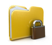 Folder icon and lock Royalty Free Stock Images