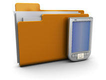 Folder icon with pda Royalty Free Stock Images