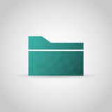 Folder icon in polygonal style with shadow on a gray background. Vector illustration eps10 Stock Photos