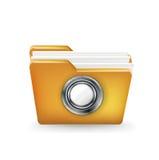 Folder icon with safe combination button Stock Photos