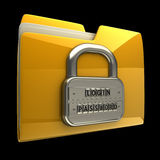 Folder icon with security password Stock Photography