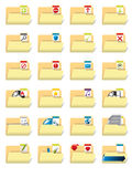 Folder icon set Royalty Free Stock Photography