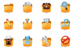 Folder icon set Stock Images