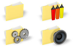 Folder Icon Set Royalty Free Stock Images