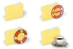 Folder Icon Set Stock Photos