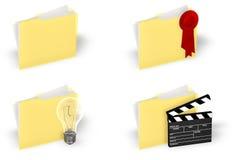 Folder Icon Set Royalty Free Stock Images