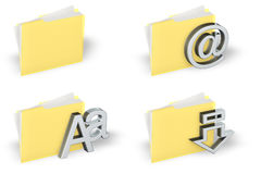 Folder Icon Set Stock Photography