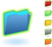 Folder Icon Set. Set of 6 folder icons Stock Photos