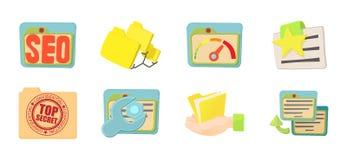Folder icon set, cartoon style. Folder icon set. Cartoon set of folder vector icons for web design isolated on white background Royalty Free Stock Photo