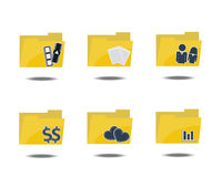Folder Icon Set Royalty Free Stock Photos