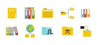 Folder icon set, flat style. Folder icon set. Flat set of folder vector icons for web design isolated on white background Royalty Free Stock Photos