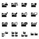 Folder icon3. Set of icons on a theme folder. Vector illustration Stock Photos