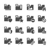 Folder icon set 2, vector eps10 Royalty Free Stock Photos