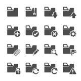 Folder icon set 1, vector eps10 Royalty Free Stock Photos