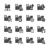 Folder icon set 3, vector eps10.  Stock Image