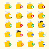 Folder Icon Set Royalty Free Stock Photo