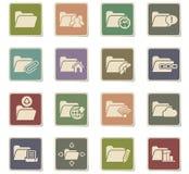 Folder icon set. Folder web icons for user interface design Stock Photography