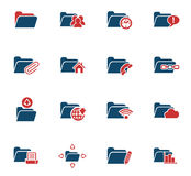 Folder icon set. Folder web icons for user interface design Royalty Free Stock Photo