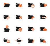 Folder icon set. Folder web icons for user interface design Royalty Free Stock Images