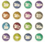 Folder icon set. Folder web icons for user interface design Royalty Free Stock Image