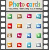 Folder icon set. Folder web icons for user interface design Stock Images
