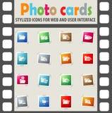 Folder icon set. Folder web icons for user interface design Royalty Free Stock Photos