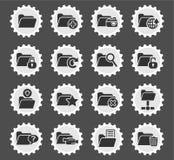 Folder icon set. Folder web icons for user interface design Royalty Free Stock Photography