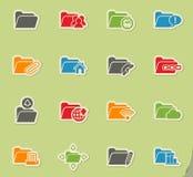 Folder icon set Stock Images