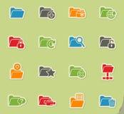 Folder icon set. Folder web icons for user interface design Stock Image