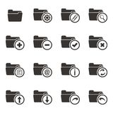 Folder icon sets Stock Images