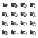 Folder icon sets royalty free illustration