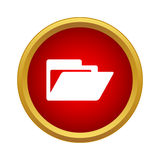 Folder icon, simple style Stock Images
