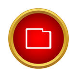 Folder icon, simple style Stock Photography