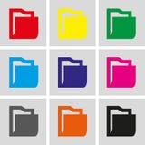 Folder icon stock vector illustration flat design Royalty Free Stock Images
