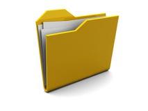 Folder icon, symbol Royalty Free Stock Photography
