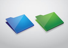 Folder icon vector Royalty Free Stock Image
