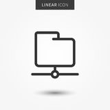Folder icon vector illustration. Isolated ftp data symbol. Server folder line concept. Web storage graphic design. Web folder outline symbol for app. Folder Royalty Free Stock Photography