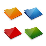 Folder icon vector set Royalty Free Stock Photo