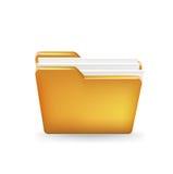 Folder icon  on white Stock Image