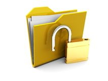Folder Icon With Lock Royalty Free Stock Photography