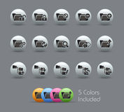 Folder Icons - 1 of 2 // Pearly Series Stock Photography