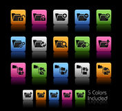 Folder Icons - 1 // Color Box Royalty Free Stock Images