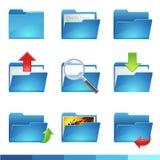 Folder icons. 9 vector folder icons set1 Stock Photos