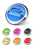 Folder icons. Collection . Clipart illustration Royalty Free Stock Image