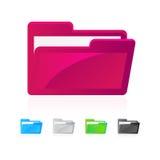 Folder icons. Isolated on white Royalty Free Stock Photo