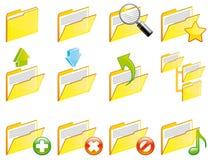 Folder icons Royalty Free Stock Image