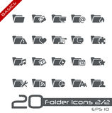 Folder Icons - 2 of 2 // Basics Royalty Free Stock Image