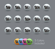 Folder Icons - 2 of 2 // Pearly Series Stock Image